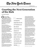 Click for pdf: Courting the Next Generation of the Rich