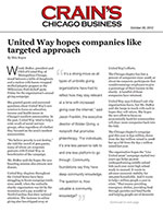 Click for pdf: United Way hopes companies like targeted approach