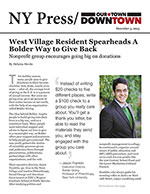 Click for pdf: West Village Resident Spearheads A Bolder Way to Give Back