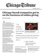 Click for pdf: Chicago-based companies get in on the business of online giving