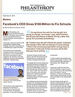 Click for pdf: Facebook's CEO Gives $100-Million to Fix Schools