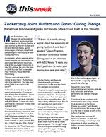 Click for pdf: Zuckerberg Joins Buffett and Gates' Giving Pledge