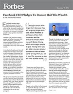 Click for pdf: Facebook CEO Pledges To Donate Half His Wealth