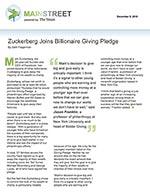 Click for pdf: Zuckerberg Joins Billionaire Giving Pledge