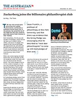 Click for pdf: Zuckerberg joins the billionaire philanthropist club