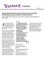 Click for pdf: Mensa National Conference Features Jason Franklin, Philanthropy Expert, Bolder Giving Executive