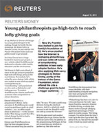 Click for pdf: Young philanthropists go high-tech to reach lofty giving goals