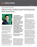 Click for pdf: Where young, wealthy people find help giving their money away