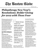 Click for pdf: Philanthropy New Year's Resolutions: Bolder Giving for 2012 with These Four
