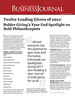 Click for pdf: Twelve Leading Givers of 2011