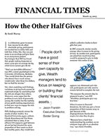 Click for pdf: How the Other Half Gives