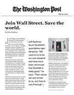Click for pdf: Join Wall Street. Save the world.