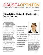 Click for pdf: Stimulating Giving by Challenging Social Norms