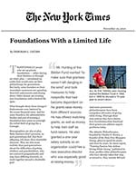 Click for pdf: Foundations With a Limited Life