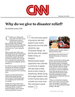 Click for pdf: Why do we give to disaster relief?
