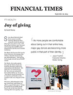 Click for pdf: Joy of Giving