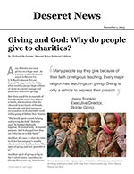 Click for pdf: Giving and God: Why do people give to charities?
