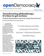 Click for pdf: Transforming philanthropy: it's time to get serious